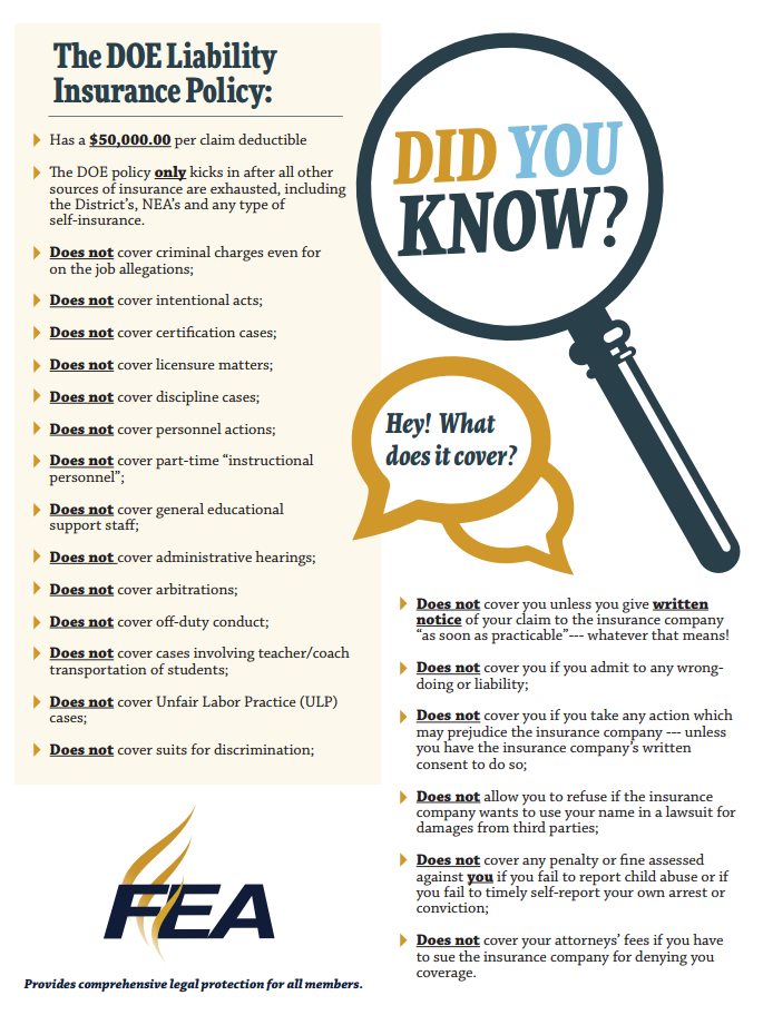 Did you know - DOE Liability Insurance Policy
